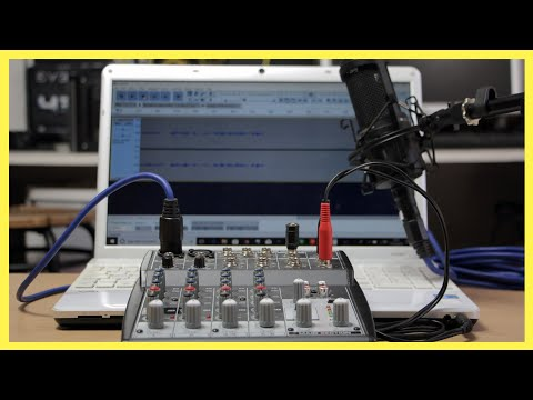 How To Connect A Mixer To A Laptop Or PC | Beringher Xenyx 802 | Audio Technica AT2020 Sound Test