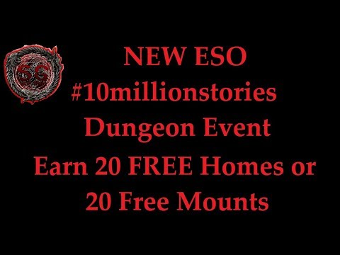 ESO NEW Dungeon Event - How to earn 20 Free mounts or homes