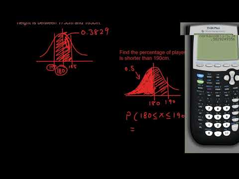 Probability lesson 12 - Find Normal Distribution probabilities with a graphics calculator (TI-84)
