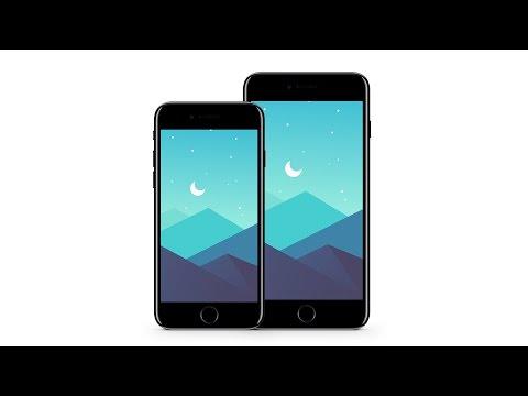 Starry Sky iPhone 7/ 7 Plus Wallpaper Download | Illustrator Speed Art