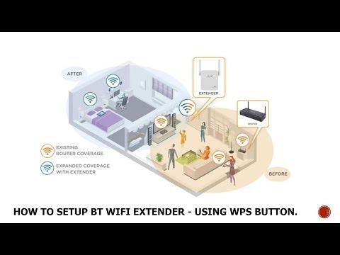 How to Setup BT WIFI Extender - Using WPS Button.