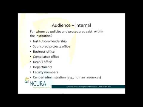 Who is Your Internal Audience When Developing Policies and Procedures?