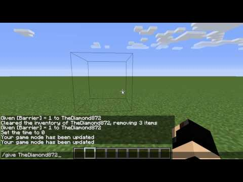 How to get a Invisible Block in Minecraft 1.8