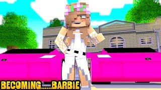 LITTLE KELLY BECOMES BARBIE! | Minecraft Little Kelly