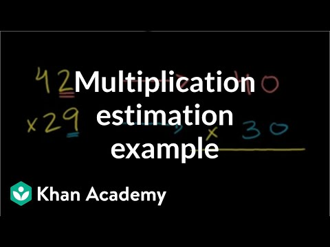 Multiplication estimation example | Multiplication and division | Arithmetic | Khan Academy