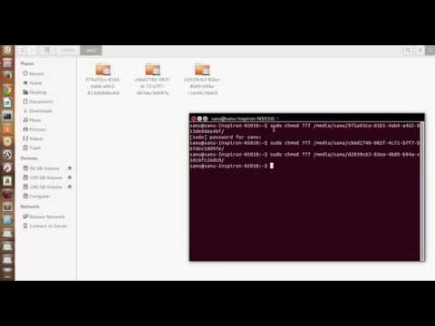 How to assign read,write ,delete,etc permission for partition in ubuntu