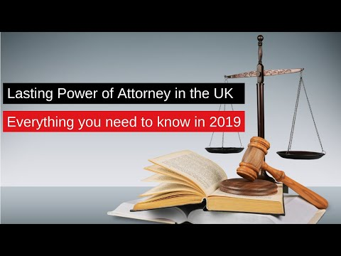 Lasting Power of Attorney UK - Our guide with info on costs and how to set one up
