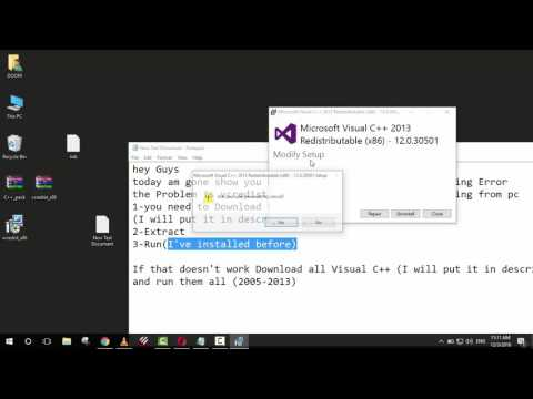 how to fix MSVCP100.dll is Missing Error win 7/8/8.1/10 . 2017