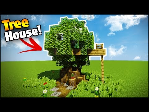 Minecraft: How to Build a Modern House Inside a Tree