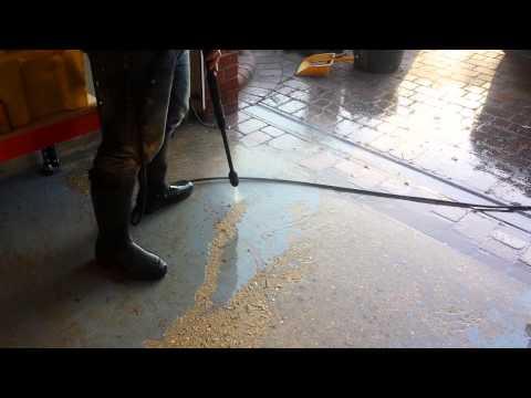 Pressure Washing Paint from Garage Floor