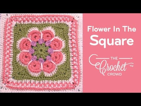 How to Crochet Flower in the Square
