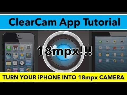 ClearCam App Tutorial - Double Your iPhone Camera Resolution