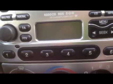 How to fix a Ford Radio - station button dont' work fault 6000CD.  Puma KA Fiesta Focus Mondeo