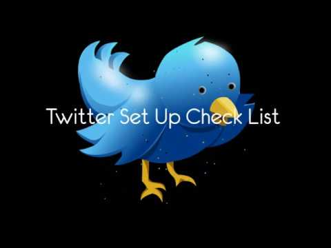 Twitter Check List Creating Your  Local Business Account