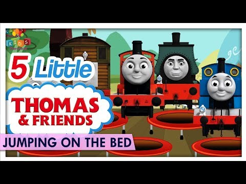 Five Little Thomas And His Friends Jumping On The Bed - Learn Kids Nursery Rhymes - Kids Carnival