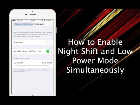 Tip: Use Night Shift and Low Power Mode at the Same Time on iPhone or iPad - iPhone Hacks