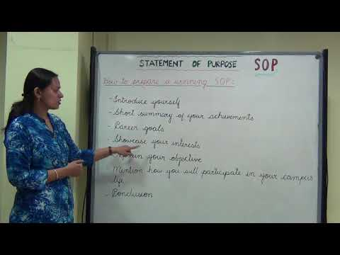 HOW TO WRITE A WINNING SOP
