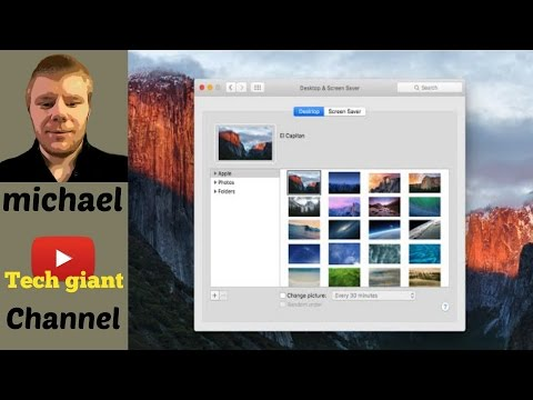 How to Change Desktop Background in Mac OS X El Capitan