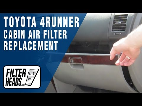 How to Replace Cabin Air Filter Toyota 4Runner