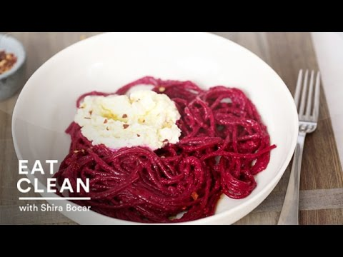 Bold Beet Pasta with Ricotta - Eat Clean with Shira Bocar