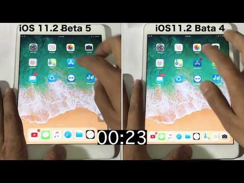 iOS 11.2 Beta 5 vs iOS 11.2 Beta 4 Speed test on iPad mini 2 |Geekbench test