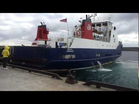 Shetland Islands Council Ferry - MV BIGGA - Arriving in the island of UNST