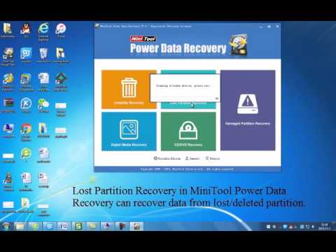 Lost Partition Recovery of MiniTool Power Data Recovery