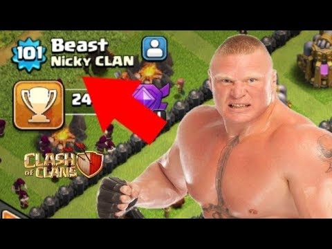 OMG 😱 WWE SuperStar Brock Lesnar playing Clash of clans!!!