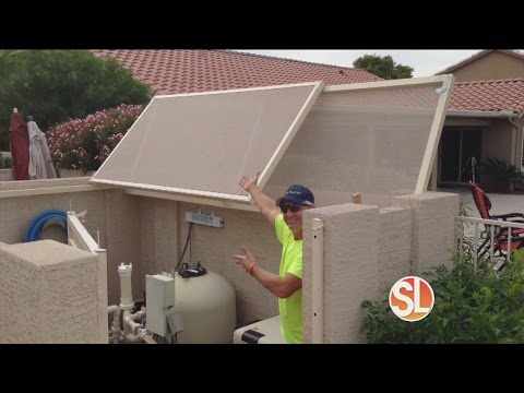 Sun Away Outdoor Shades protects your pool pump