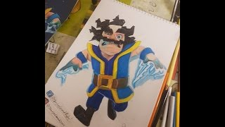 how to draw electro wizard