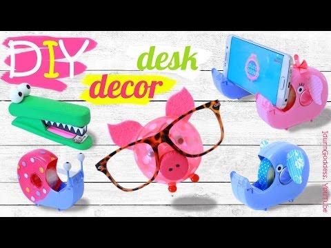 DIY Desk Decor And Organization Ideas – How To Make Cute Animals Desk Set