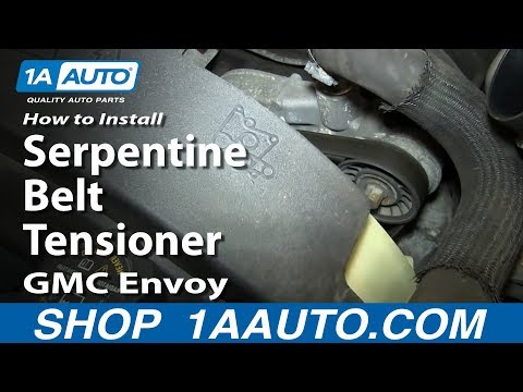 How To Install Replace Serpentine Belt Tensioner 2002-09 V8 GMC Envoy and XL