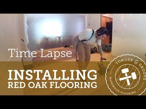 Time Lapse of Hardwood Flooring Install