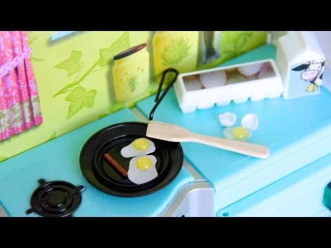 How to Make a Doll Skillet with Eggs and Sausage - Doll Crafts