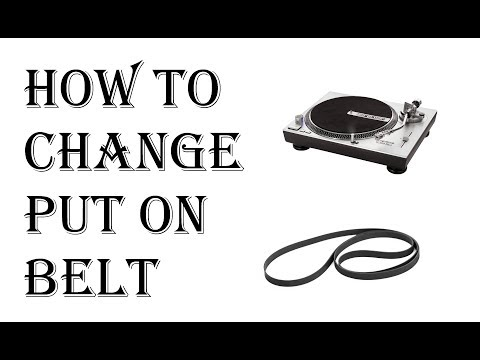 How to Put Belt on Turntable Record Player - How to Change Belt on Your Record Player