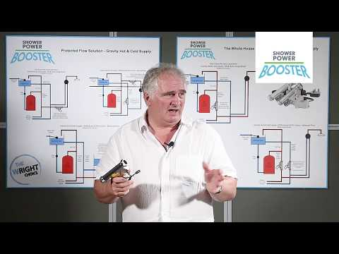 Increasing Pressure and Flow with a Shower Power Booster