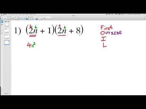 Multiply Polynomials 1 (Foil Method)