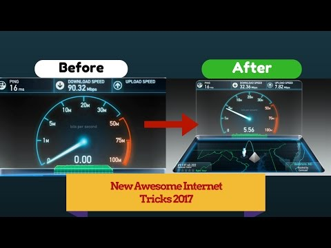 HOW TO SPEED UP INTERNET CONNECTION - Windows 7 new awesome trick 2017 [HD]