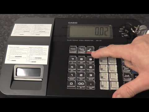 Casio SE-G1 - How to enter an amount - doing a simple sale - Adding up