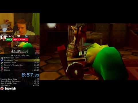 The Legend of Zelda: Majora's Mask Any% Speedrun (1:19:55)