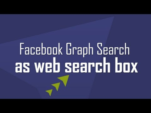 Use Facebook Graph Search as Web Search Box