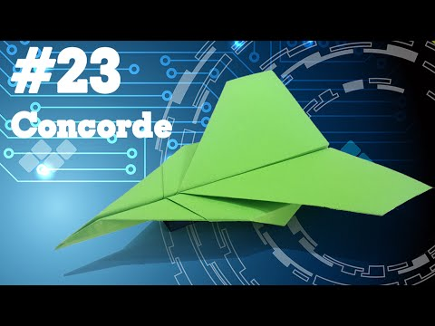 How to make PAPER AIRPLANE - Easy Origami for kids #23 | Concorde
