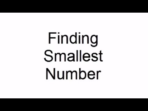 Finding Smallest Number   C++   Data Structure   Programming