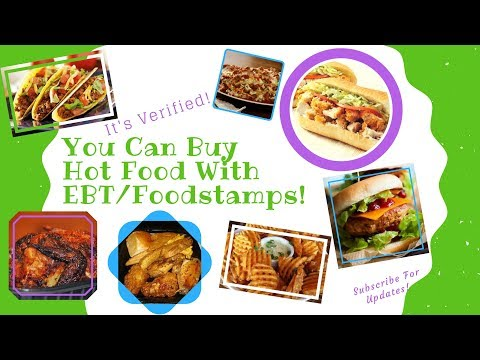 Buy Hot Food with EBT Food Stamps Until October 30th 2017!!