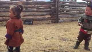 Mongolian herder kids