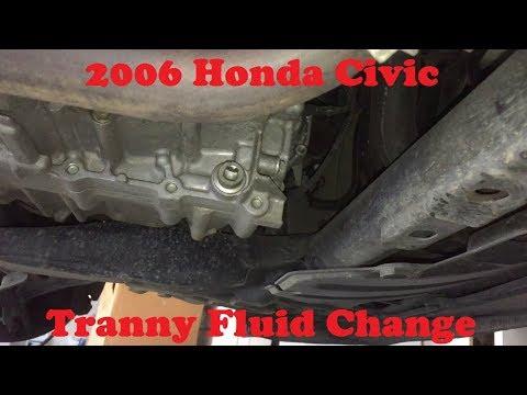 Tutorial:  Replace 2006 Honda Civic Transmission Fluid