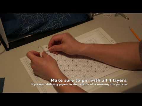 How to Transfer Sashiko Pattern on Fabric [Sashiko Tutorial]