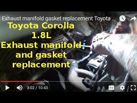 Exhaust manifold gasket replacement Toyota Corolla S 1.8L 2008.Change exhaust manifold  1710422100
