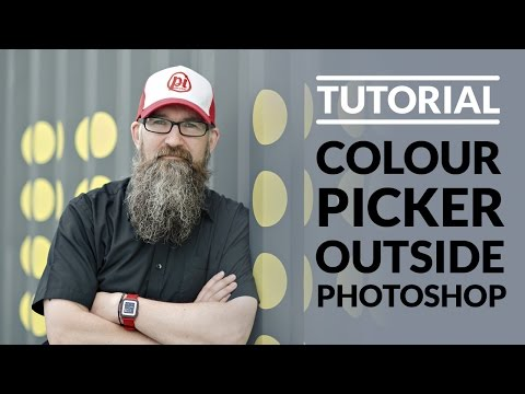 Using the colour picker to choose colours outside of Adobe Photoshop