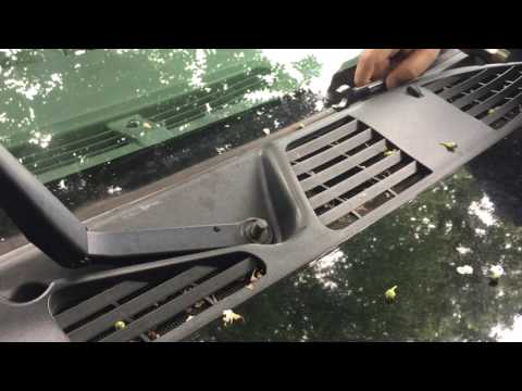 Removing seized wiper arms without fancy tools